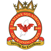 440 (1st Manx) Squadron crest